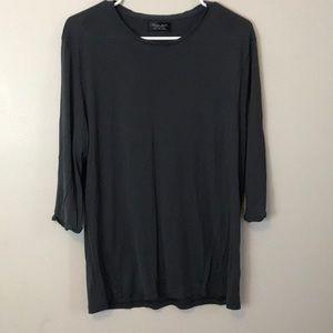 Zara Top Gray Size L.